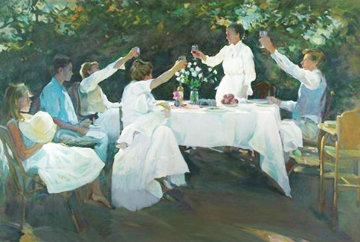 A Toast  39x51 Huge  Limited Edition Print - Don Hatfield