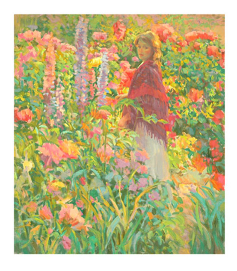 Private Garden 1998 Limited Edition Print by Don Hatfield