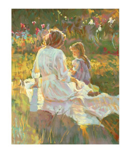Afternoon Chat 1995 Limited Edition Print by Don Hatfield
