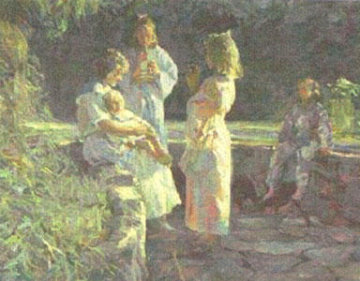 Flute Players Limited Edition Print by Don Hatfield