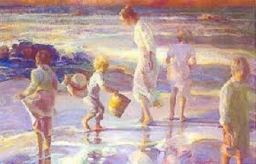 Frolicking At the Seashore 1998 Limited Edition Print by Don Hatfield