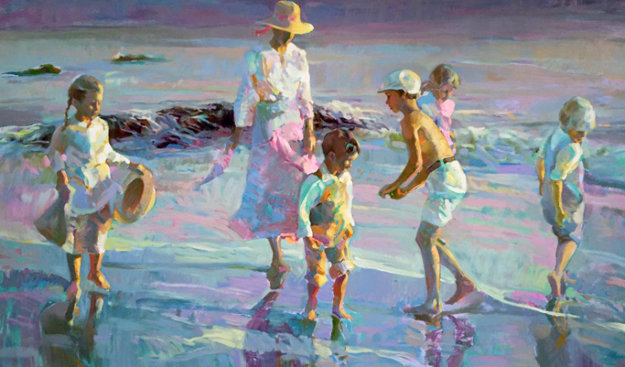 Beachcombimg 1990 Limited Edition Print by Don Hatfield