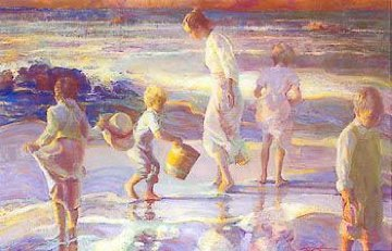 Frolicking At the Seashore AP 2001 Limited Edition Print by Don Hatfield