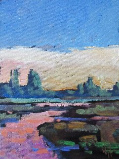 Western Landscape 12x9 Original Painting - William Hawkins