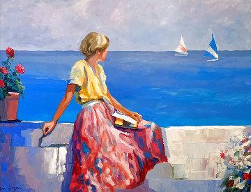 Sea Wall 40x32 Super Huge Original Painting - Don Hazen