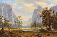Yosemite Landscape Painting 33x46 Super Huge Original Painting by Ronnie Hedge - 1
