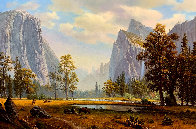 Yosemite Landscape Painting 33x46 Super Huge Original Painting by Ronnie Hedge - 0