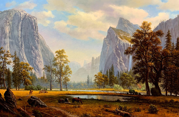 Yosemite Landscape Painting 33x46 Original Painting by Ronnie Hedge