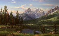 Spring Landscape Painting 36x60 Super Huge Original Painting by Ronnie Hedge - 1