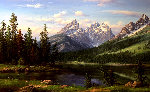 Spring Landscape Painting 36x60 Original Painting - Ronnie Hedge