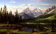 Spring Landscape Painting 36x60 Super Huge Original Painting by Ronnie Hedge - 0