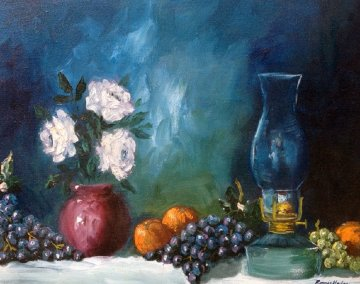 Untitled Still Life 1973 22x26 Original Painting by Ronnie Hedge