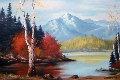 Untitled Landscape 1975 26x38 Original Painting - Ronnie Hedge