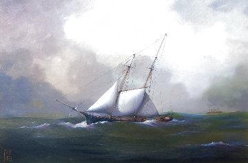 Wanderer 39x42 Original Painting - Paul Hee