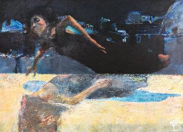 In the Sleep 2000 33x45  Huge Original Painting - Robert Heindel