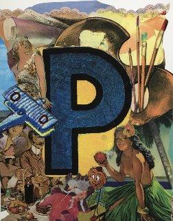Love Letters: Letter P 1998 Limited Edition Print - Bruce Helander