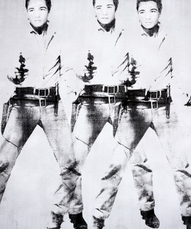 Triple Elvis 65x55 2015 Original Painting by Bruce Helander
