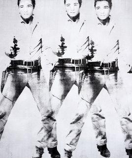 Triple Elvis 2015  65x55 Super Huge Original Painting - Bruce Helander