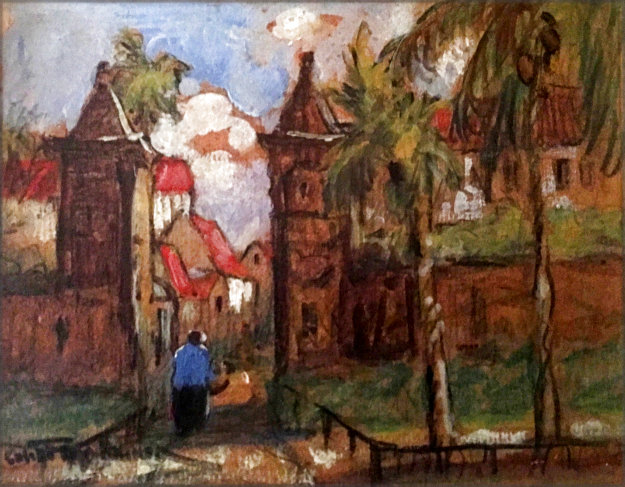 Old City Gates St. Augustine Florida 5x7 Original Painting by Colette Pope Heldner
