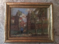 Old City Gates St. Augustine Florida 5x7 Original Painting by Colette Pope Heldner - 2