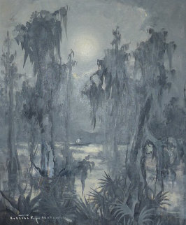 Untitled Bayou 1960 23x27 Original Painting by Colette Pope Heldner