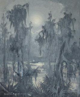 Untitled Bayou 1960 23x27 Original Painting - Colette Pope Heldner