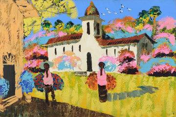 Memories of Mexico 40x60 Huge Original Painting - Paul Blaine Henrie