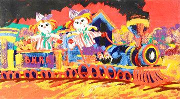 Choo-Choo Children 40x72 Huge Original Painting - Paul Blaine Henrie