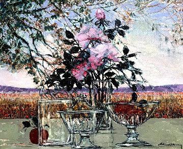 Untitled Still Life 33x38 Huge Original Painting - Michel Henry