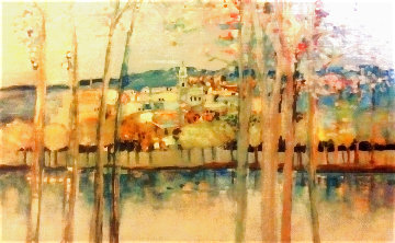 Landscape 1981 24x28 (Early) Original Painting - Michel Henry