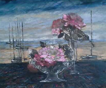 Untitled Still Life 24x36 Original Painting by Michel Henry
