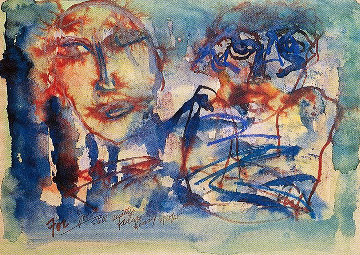 Still Another Failure Watercolor 1965 17x20 Watercolor by Henry Miller