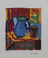 Blue Pitcher 1988 Limited Edition Print by Henry Miller - 1