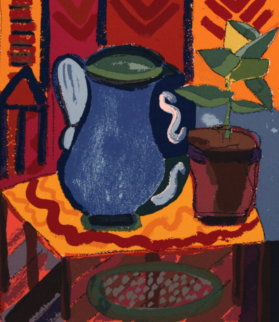Blue Pitcher 1988 Limited Edition Print by Henry Miller