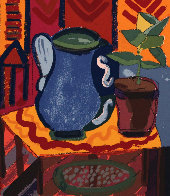 Blue Pitcher 1988 Limited Edition Print by Henry Miller - 0