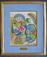 For Friend Joe Gray 1963 13x10 Watercolor by Henry Miller - 1