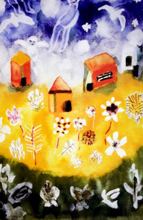 House and Angels 2000 Limited Edition Print - Henry Miller