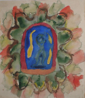 Lecher Watercolor 1941 21x18 Watercolor - Henry Miller