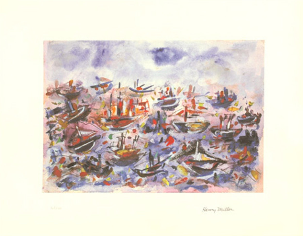Battle of Trafalgar Limited Edition Print by Henry Miller