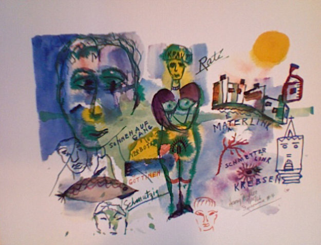Insomnia # 4 1966 Limited Edition Print by Henry Miller