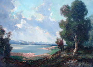 Chiemsee 30x38 Original Painting - Ingfried Henze-Morro