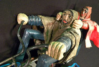 Cruising Through Jerusalem Wood Unique  Sculpture 2007 41x17 Sculpture by Nicholas Herrera - 2
