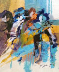 Untitled Painting 1986 11x9 Early Work Original Painting - Abrishami Hessam