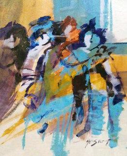 Untitled Painting 1986 11x9 Early Work Original Painting by Abrishami Hessam