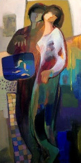 Yours Forever 1999 56x32 Super Huge Original Painting - Abrishami Hessam