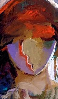 Man With a Chapeau 15x12 Original Painting by Abrishami Hessam