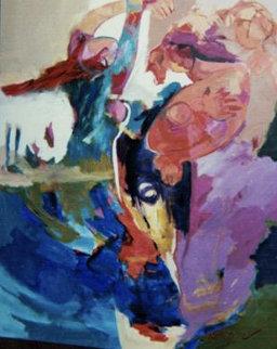 Feeling Free 60x48 Original Painting - Abrishami Hessam