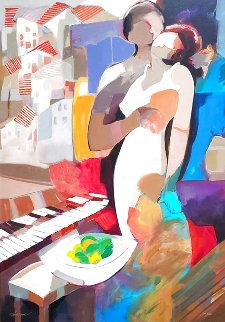 Autumn Eve AP 2006 Embellished Limited Edition Print - Abrishami Hessam