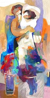 Lover's Dream 54x30 Super Huge Original Painting - Abrishami Hessam
