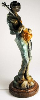 Setar Player Bronze Sculpture 37 in Sculpture - Abrishami Hessam